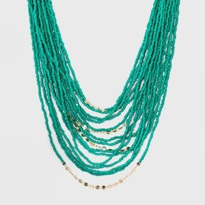 Turquoise Beaded Statement Necklace Sugarfix